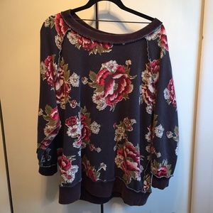 Free People Sweaters - Free people floral sweatshirt